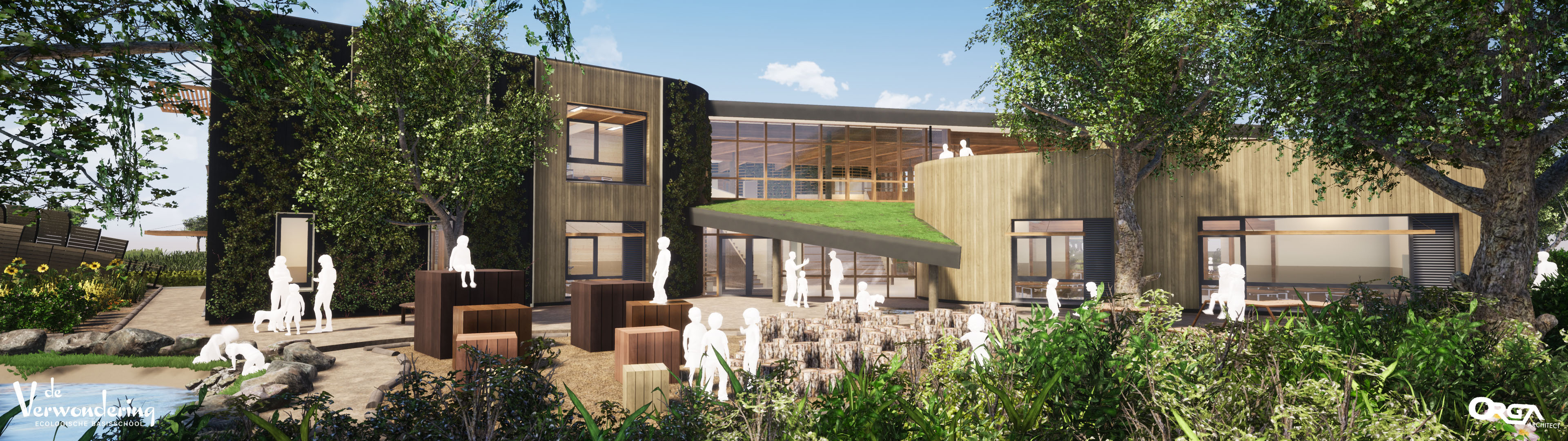 ORGA architect – Eco school De verwondering panorama 003